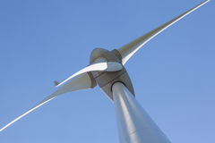 Abstract view of Wind turbine producing alternative energy Royalty Free Stock Photography