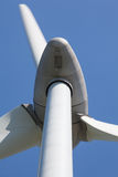 Abstract view of Wind turbine producing alternative energy Royalty Free Stock Images