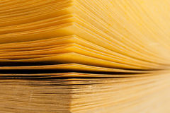 Abstract view of yellow pages book Royalty Free Stock Photo
