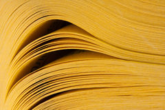 Abstract view of yellow pages book Royalty Free Stock Image