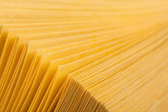 Abstract view of yellow pages book Stock Image