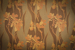 Abstract Vignette  Flowers on Concrete Cement Wall background tex Stock Photography