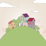 Abstract Village Royalty Free Stock Photo