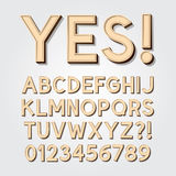 Abstract Vintage Alphabet and Numbers Stock Photo