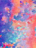 Abstract vintage background in Bright color of geometric shape Stock Photo