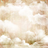 Abstract vintage background with clouds. vector illustration