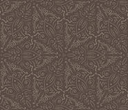 Abstract vintage brown seamless pattern Stock Images