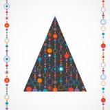 Abstract vintage christmas Stock Image