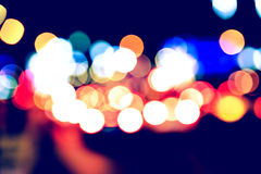 Abstract Vintage City Traffic Lights Bokeh Royalty Free Stock Image