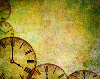 Abstract vintage clock background Stock Images