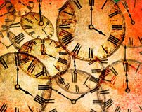 Abstract vintage clock background Royalty Free Stock Photos