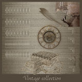 Abstract vintage collection Royalty Free Stock Photo