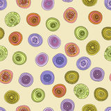 Abstract  vintage colored circles seamless pattern Royalty Free Stock Photo