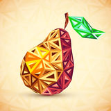 Abstract vintage colors triangles vector pear Stock Images