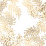 Abstract vintage damask pattern. Vector vintage gold card with damask pattern EPS 10 stock illustration