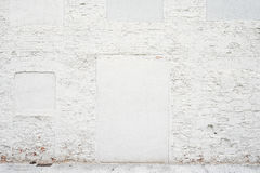 Abstract vintage empty background.Photo of old white painted brick wall texture. White washed brickwall surface royalty free stock photos