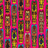 Abstract vintage ethnic pattern. Mask seamless background. Royalty Free Stock Images