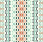 Vector abstract geometric seamless pattern. Abstract vintage ethnic seamless geometric striped pattern. Style fashion border Stock Images