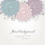 Abstract vintage floral background Stock Photography