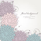 Abstract vintage floral background Stock Image