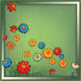 Abstract vintage floral background with flowers Stock Photo