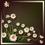 Abstract vintage floral background with flowers Stock Photography