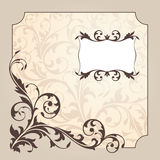 Abstract vintage frame. Illustration Stock Photos