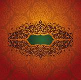 Abstract vintage frame. Vector illustration Stock Images