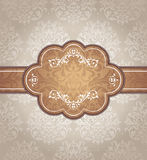 Abstract vintage frame. Vector illustration Stock Photography