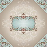 Abstract vintage frame. Vector illustration Royalty Free Stock Image
