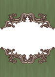 Abstract vintage frame. With vignettes for design on white royalty free illustration