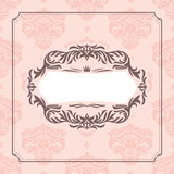 Abstract vintage frame. Vector illustration Stock Image