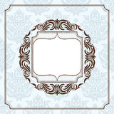 Abstract vintage frame. Vector illustration Royalty Free Stock Photo