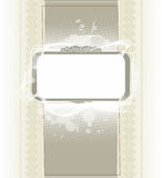 Abstract vintage frame background with blots Stock Photo