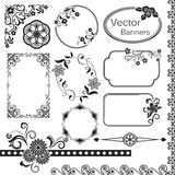Abstract vintage frame set. Abstract vintage frame templates with copy space stock illustration