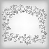 Abstract vintage frame. Vector ornamental background. Royalty Free Stock Photo