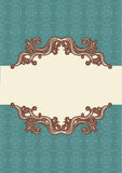 Abstract vintage frame with vignettes. For text vector illustration