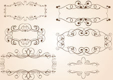 Abstract vintage frames royalty free stock photos