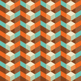 Abstract vintage geometric wallpaper pattern seamless background Royalty Free Stock Photography