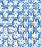 Abstract vintage geometric wallpaper pattern seamless background. Vector illustration. Blue and white colors. Royalty Free Stock Photo