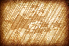 Abstract vintage grunge background with stars Stock Photography