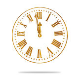 Abstract Vintage Grunge Clock Royalty Free Stock Images