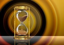Abstract vintage hourglass stock illustration
