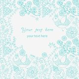 Abstract vintage illustration for design.Beautiful frame, doodle Royalty Free Stock Photos