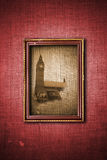 Abstract vintage illustration of London picture in Royalty Free Stock Images