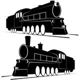 Abstract vintage locomotives-1 Royalty Free Stock Image