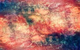 Abstract Artistic Multicolored Vintage powerful map Texture Background stock illustration