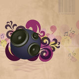 Abstract vintage music background. With round speakers. EPS10 vector Stock Images