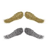 Abstract vintage  mustaches Royalty Free Stock Photos