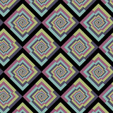 Abstract vintage optical illusion repeating pattern, vector stylish background Royalty Free Stock Photography
